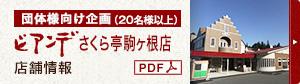 ビアンデ さくら亭店舗情報PDF